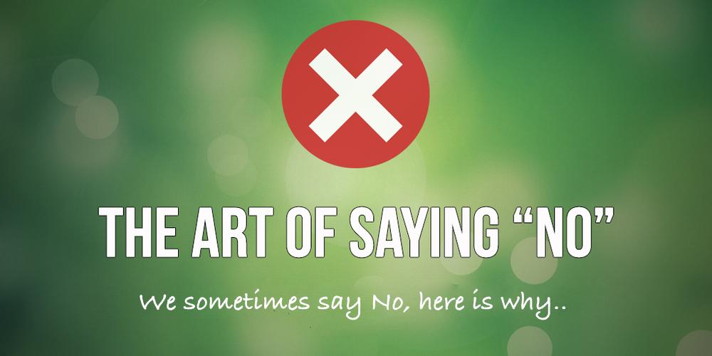 Sometimes  NO!